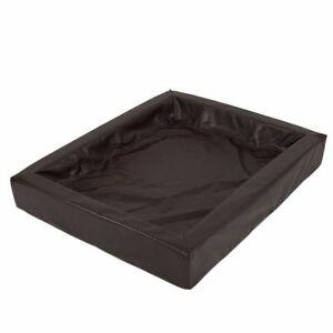 85x70cm Hygienic PU Leather Dog Sofa Bed Padded Pet Better Sleep Care Brown UK