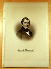 MAJOR ISRAEL FORSTER Manchester, Massachusetts MA Steel Engraving Portrait 1888