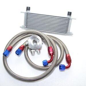 Universal Zusatz Ölkühler Set Kit 13 Reihen inkl. Anschluss-Set