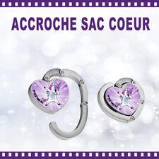 Accroche-sac coeur personnalisé LICORNE avec Prénom - St Valentin sac cadeau