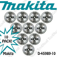 "Makita D-45989-10 7-1/4"" 24T Circular Saw Blades (10-Pack) NEW"