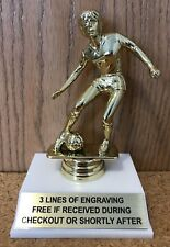 FEMALE SOCCER TROPHY - FREE ENGRAVING - EASY ASSEMBLY REQUIRED