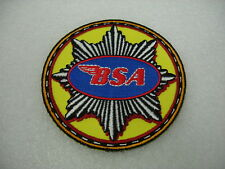 PATCH SEW ON BSA BRITISH MOTORCYCLE GAS TANK LOGO EMBROIDERED VEST JACKET