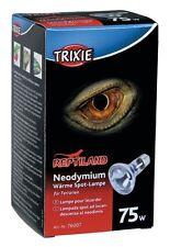 Neodymium Basking Spot Lamp Reptile Heat Bulb E27 Thread 75w