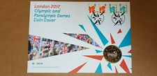 London 2012 Olympic & Paralympic Games £5 Coin Cover No.04236 with 4 Stamps