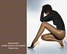 WOLFORD SATIN TOUCH 20 TIGHTS • lion • XS • BNIB