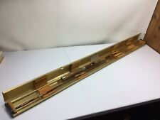 "VINTAGE GARCIA CONOLON  FISHING ROD 6' 6.5"" GOLD PLATED CASE"