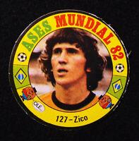 Sticker FIFA World Cup Spain 82 ✱ ZICO ~ BRAZIL ✱ RARE Card Football Soccer