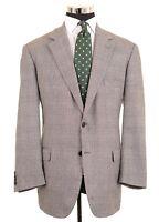 Brooks Brothers ITALY Gray LORO PIANA ZELANDER WOOL Sport Coat Jacket 44 R