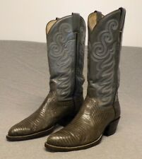 """Vintage Cowtown Western Cowboy Exotic Lizard Skin Boots men's 8D """"Made in Usa"""""""