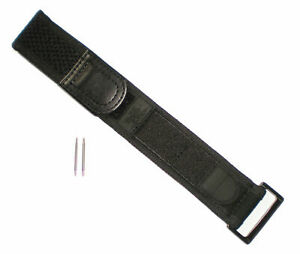 BLACK OUT WIDE Watch Band Nylon Navy Seals 22/23mm Fits LUMINOX 3000/3900/3050
