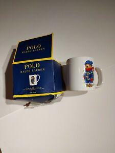 POLO Ralph Lauren Christmas Bear Lights Holiday Mug Coffee Cup - NEW Damaged Box