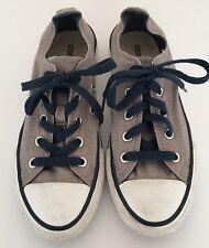 Unisex Grey Converse Double Tongue Shoes Size UK 1  good Condition.