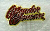 Wonder Woman 1970's Written Logo Enamel Pin - DC Comics, New
