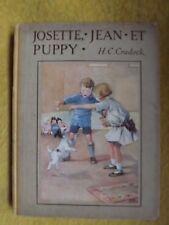 JOSETTE, JEAN ET PUPPY.   H.C. Crodock.   1937.