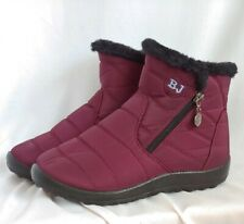 e5e7485247c BJs Purple Fleece Lined Zip Snow Booties Size 6