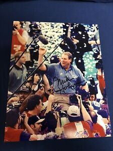 MIKE HOLMGREN GREEN BAY PACKERS GB SIGNED AUTOGRAPHED 8X10 PHOTO SUPER BOWL 3