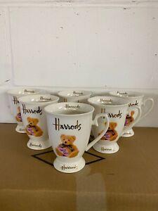 Harrods Mugs Set Of 6 Pink Teddy Tableware Tea Coffee Ceramic Dishwasher Safe