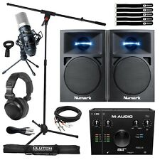 Home Recording Bundle M-Audio Air192X4 Audio Interface w Speakers & Microphone