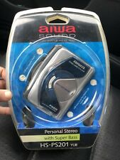 Aiwa HS-PS201 Portable Stereo Audio Cassette Player Walkman with Headset