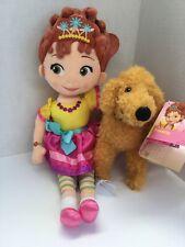 """Disney Store ~ Fancy Nancy 14"""" Doll & Frenchy 7"""" Dog Set ~ Soft Plush - NWT"""