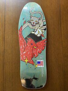 Schmitt Stix Skateboard Deck Chris Miller Cat Bird Teal Stain