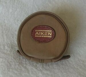 AIKEN of LONDON Vintage FLY REEL POUCH Canvas & Leather 4 inch