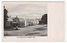Lower Main Street Plainfield Massachusetts 1910c postcard