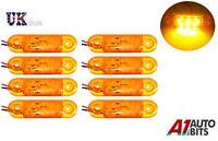 8x 12v Led Amber Orange Side Marker Lights Indicator Trailer Truck Lorry Van Bus