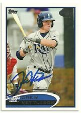 2012 Topps Pro Debut DREW VETTLESON Signed Card AUTOGRAPH RAYS Bremerton, WA