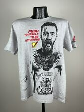 Men's Reebok Conor McGregor BSN Finish First Graphic Logo Gray Shirt NWOT Medium