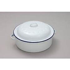 Falcon Enamel Roaster Round - Traditional White 20cm