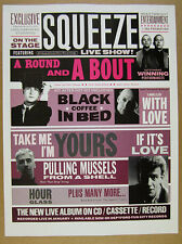 1990 Squeeze A Round and a Bout live album promo vintage print Ad