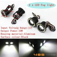 2X Motorcycle LED Angel Eye Fog Spotlight Headlight Working Lamp Universal Fit