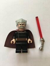 STAR WARS LEGO MINIFIGURE COUNT DOOKU+LIGHTSABER SITH CLONE WAR SET 7752 9515