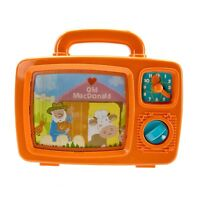 Early Learning Centre Wind Up Musical TV Moving Pictures Songs & Clock Vintage