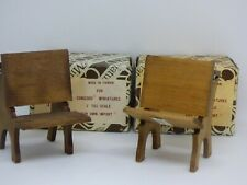 Set of 4 Dollhouse Miniature Old-Fashioned Desks