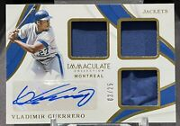 VLADAMIR GUERERRO SR. Immaculate 3 Panel Relic, Auto & Gold Parallel SP# 03/25