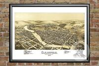 Old Map of Clearfield, PA from 1895 - Vintage Pennsylvania Art, Historic Decor