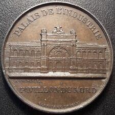 Napoléon III - Médaille Palais de l'industrie poinçon Zinc - vue des galeries