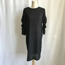 575c4289c1 Zara Ruffle Sleeve Black dress Knee Length Casual Business Night Out Size  Small