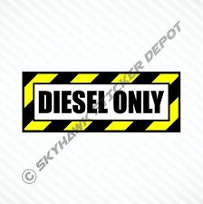 Diesel Only Vinyl Decal Sticker Diesel Fuel Cap Truck Car Decal