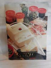 Vecchio manuale d uso per SINGER SPINTO aspiratore d aria sottovuoto alimenti di