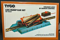 TYCO LOG DUMP CAR SET HO Scale NO. 926, OPERATING, VINTAGE, RARE, MINT