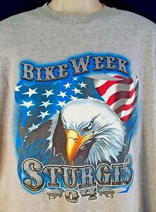 2004 STURGIS Bike Week T-Shirt Size X-Large 64th Annual The Legend Lives On