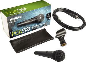 Shure PGA58 QTR Handheld Wired Mic XLR-QTR Microphone NEW!! FULL WARRANTY!!