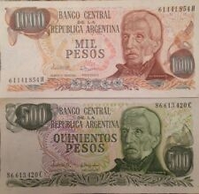 ARGENTINA 500 & 1000 PESOS PAIR of UNC BANKNOTES P-303 & 304 FROM A USA SELLER
