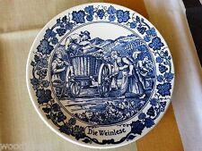Holland Royal Goedewaagen Die Weinlese Old Vienna Blue Plate Vintage Delft