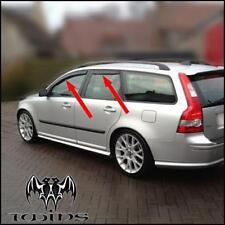 Set 4 Deflettori Aria Antiturbo Oscurati Volvo V50 V 50 anti vento pioggia SW