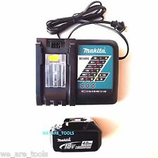 (1) NEW Makita BL1840B 18V GENUINE Battery 4.0 AH, 1) DC18RC Charger 18 Volt LXT